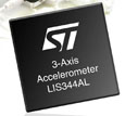STMicroelectronics announces extra degree of freedom in 4 x 4mm analog-output accelerometer family