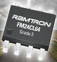 Ramtron's 64-kilobit serial F-RAM memory specified to AEC-Q100 automotive standards