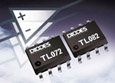 TL072/TL082 industry standard dual JFET operational amplifiers from Diodes Inc