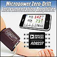 New instrumentation amplifier from Analog Devices combines power efficiency, zero-drift accuracy and value for portable equipment