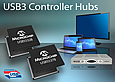 Microchip has announced its third-generation USB3 Controller Hubs (UCH3s): the four-member USB553XB-5000 family is SuperSpeed Logo Certified by the USB Implementers Forum and is the world's first to integrate OTP Flash configuration memory.