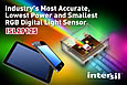 Intersil announces industry's most accurate and lowest power RGB Digital Light Sensor to optimize mobile and TV display viewing experience
