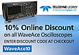 To celebrate this new agreement Anglia are offering customers a 10% discount on the versatile WaveAce family of oscilloscopes from Teledyne LeCroy for a limited time when purchasing via www.anglia-live.com. Simply enter the code WaveAce10 at the checkout.