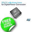 STMicroelectronics' STM32F334 product line for digital power conversion applications