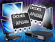 Implementing a light load efficiency improvement algorithm, the latest AP6550 and AP6540 synchronous DC-DC buck converters from Diodes Incorporated achieve an efficiency as high as 96% delivering continuous load currents of 4A and 5A, respectively.