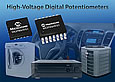Industry's first 5 kohm digital potentiometers with specified 36V operating voltage from Microchip