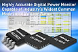 Intersil announces highly accurate digital power monitor capable of industry's widest common mode input voltage range