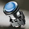 SCHURTER's robust metal pushbutton switch with ceramic actuator surface