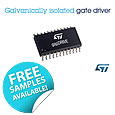 The STGAP1S advanced single-channel gate driver, from STMicroelectronics, integrates galvanic isolation with analog and logic circuitry in the same chip to help simplify driver design while ensuring high noise immunity for safe and reliable power control.