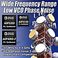 New PLLs deliver widest frequency range coverage and lowest VCO phase noise in a single device
