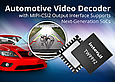 Intersil's latest automotive video decoder with MIPI-CSI2 output interface supports next-generation SoCs