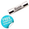 The S505H Bussmann series of ceramic fuses from EATON are rated at 400Vdc/500-600Vac, the fuses have a time delay fusing action with a high breaking capacity of 1500A.