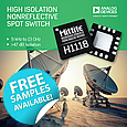 Analog Devices has introduced an absorptive single-pole, double-throw (SPDT) switch specified for the 9-KHz to 13-GHz frequency band, with high isolation of 48 dB and low insertion-loss of 0.6 dB at 8-GHz operation.