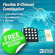 AD5592R and AD5593R Configurable 8-channel, 12-bit, ADC/DAC/GPIO combination chip from Analog Devices