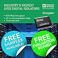 Introducing the ADN465x series of Industry's Fastest LVDS Digital Isolators from Analog Devices