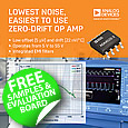 The ADA4522 series of Zero-Drift, Precision Op Amps from Analog Devices help to simplify board design. The high-voltage, low-noise, zero-drift, precision operational amplifiers reduce system noise, cost, board space, and development time.