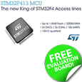 The new STM32F413/423 MCUs target always-on sensor acquisition and general-purpose industrial applications and present a robust and cost-effective upgrade from STM32F1 MCUs.