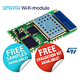 The SPWF04 Wi-Fi module integrates an ARM® Cortex®-M4 STM32 microcontroller with a rich set of multi-functional GPIOs and with 2MB on-chip Flash and 256Kbyte RAM for generous code and data storage.