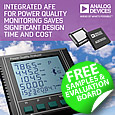 Highly Integrated Power Quality Monitoring AFE from Analog Devices Saves Design Time and Cost, samples available from Anglia