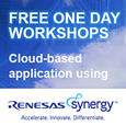 During October, Anglia, in conjunction with Renesas are providing a free one-day seminar and interactive workshop demonstrating the IoT cloud-based application development using Renesas Synergy.