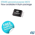 8-bit Microcontroller from STMicroelectronics Delivers Uniquely Flexible Feature Set in Space/Cost-Saving 8-Pin Package