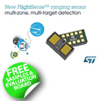 STMicroelectronics has released its third-generation laser-ranging sensor based on its industry-leading FlightSense technology. The VL53L1X is a state-of-the-art, Time-of-Flight (ToF), laser-ranging sensor, enhancing the ST FlightSense product family