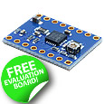 The EVALSP820-XS from STMicroelectronics is a compact and easy to use evaluation board for the STSPIN820, the world's smallest 45 V microstepping motor driver rated at 1.5 A per phase.