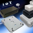 The new 1551V miniature ventilated sensor enclosures from Hammond Electronics are designed to house sensors and small sub-systems installed in the manufacturing environment as part of IoT systems.