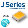 The J Series 2835 LEDs extend Cree's industry-leading portfolio of lighting-class LEDs to a broader set of applications, with high efficacy and excellent value in an industry-standard 2.8 x 3.5 x 0.7 mm package.