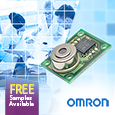 Omron Electronic Components Business Europe has added a wide angle 32 x 32 element version of its D6T MEMS Thermal Sensors, offering the widest field of view that Omron has ever delivered.