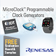 The MicroClock programmable clock generator family offers the ultra low-power and tiny form factors demanded by miniature applications. Equipped with innovative features and low-power DCO, these devices support a wide range of battery-powered devices.