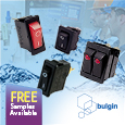 Bulgins high quality rocker switches (previously Arcolectric) includes a huge range of single pole and double pole options available in various sizes, colours, terminations, actuator types and ratings up to 16A, 250Vac.