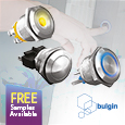 Bulgin's Robust Vandal Resistant Switches Ideal for Harsh and Hostile Environments, samples available from Anglia