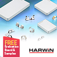 Harwin EMI shielding clips and cans simplify designs, samples and evaluation kit available from Anglia