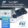 TouchGFX from STMicroelectronics is an advanced free-of-charge graphic software framework optimized for STM32 microcontrollers. Taking advantage of STM32 graphic features and architecture, TouchGFX accelerates the HMI-of-things revolution