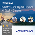 Renesas Launch Industry's First Software Upgradeable Digital Outdoor Air Quality Sensor, evaluation board and samples available from Anglia