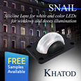 Khatod develops SNAIL Lens for illuminating window and door reveals, samples available from Anglia.