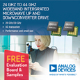 The ADMV1013 and ADMV1014 devices from Analog Devices are a paired highly integrated microwave upconverter and downconverter, respectively.