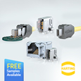 HARTING have introduced the ix Industrial<sup>®</sup> Ethernet connector system, designed to the IEC 61076-3-124 standard these connectors meet the requirement for high speed data transmission.