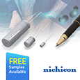 NICHICON CORPORATION has launched the SLB series of <b>S</b>mall <b>L</b>i-Ion rechargeable <b>B</b>atteries that have been designed to meet the growing demand from the latest portable devices such as wearables and IoT devices safely and reliably.