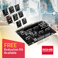 ROHM has released a new sensor shield (expansion board) equipped with 8 sensor boards (e.g. accelerometer, barometric pressure, geomagnetic, heart rate sensors, etc.) designed for use with existing open platform MCUboards such as Arduino, and mbed.