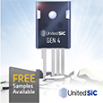 Introducing Advanced 4<sup>th</sup> Generation Technology SiC FETs from UnitedSiC, samples available from Anglia
