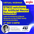 In this 1-hour session, ST will introduce Artificial Intelligence for various solutions and show you how ST can help you run Neural Networks on the STM32 family of microcontrollers.