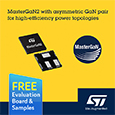 STMicroelectronics extends the MasterGaN family with introduction of high power density 600V half bridge driver with two enhancement mode GaN devices optimized for asymmetrical topologies, evaluation board and samples available from Anglia.