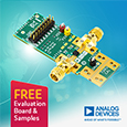 Analog Devices have introduced the ADRF5740 4-bit digital attenuator manufactured using a silicon process that is designed to operate across an ultrawideband frequency range of 10 MHz to 60 GHz with low insertion loss.