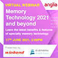 On 17th June, Anglia, supported by Winbond Electronics Corporation and Everspin Technologies will provide a webinar to discuss the latest technical features and roadmaps of specialty volatile and non-volatile memory products.