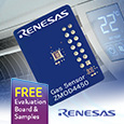 Gas sensor platform from Renesas targets Refrigeration Air Quality, evaluation kit and samples available from Anglia