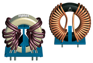 Inductors from EPCOS: EMC power line chokes for high currents